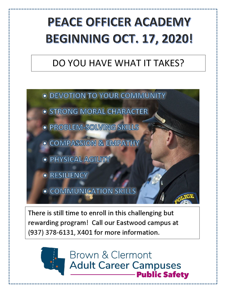 Police Officer Academy Starting Soon!