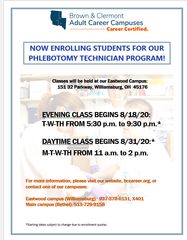 Phlebotomy Technician Classes