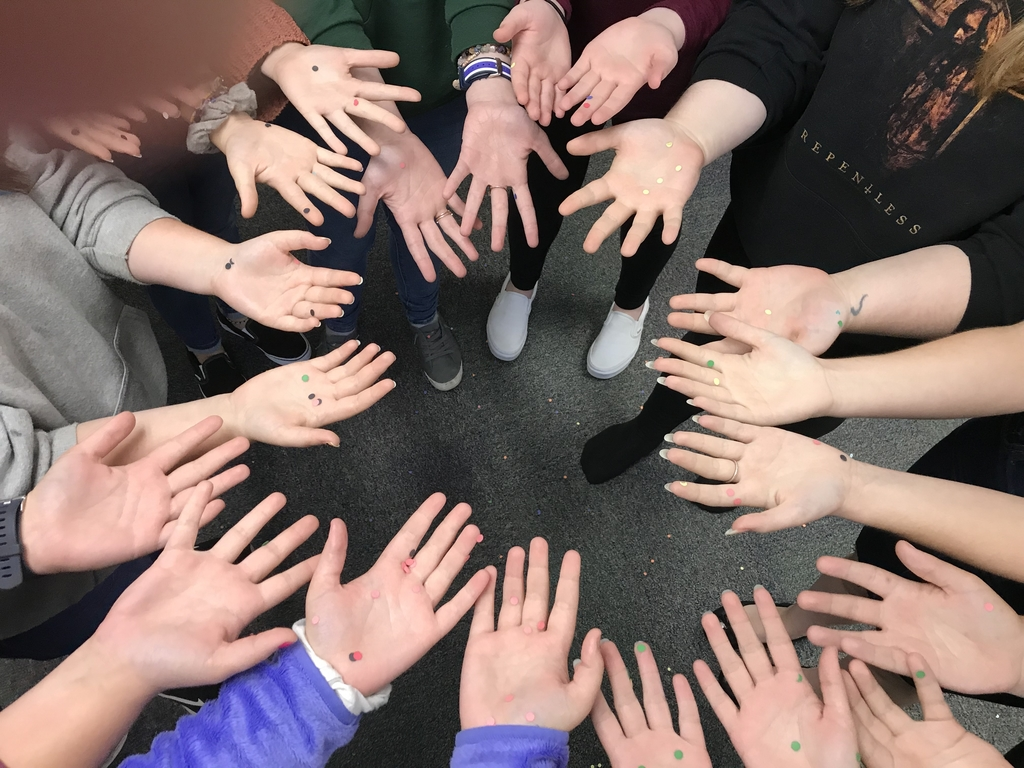 "ECE students shared some ""germs"" and then learned and practiced proper hand washing techniques to prevent the spread of germs and illness."