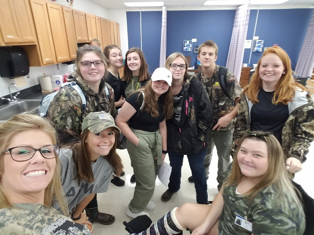 Allied Health in Camo for Camo Day!!!