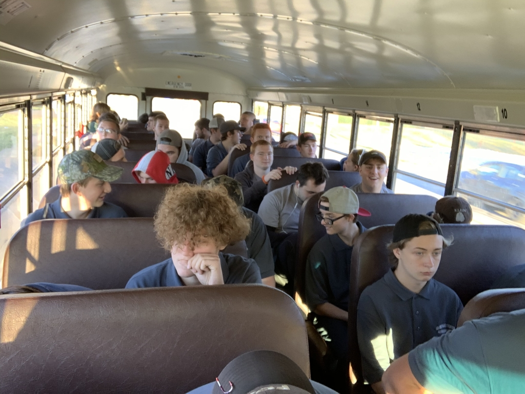 Full bus of Automotive Collision and Technology students headed to the Pumpkin Run!